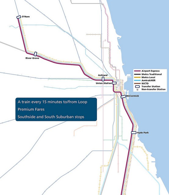 A map of the route for the Midwest High Speed Rail Association's 'CrossRail' proposal. - MIDWEST HIGH SPEED RAIL ASSOCIATION