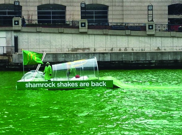 Shamrock shakes—an annual tradition, just like our use of this photo. - KEVIN WARWICK