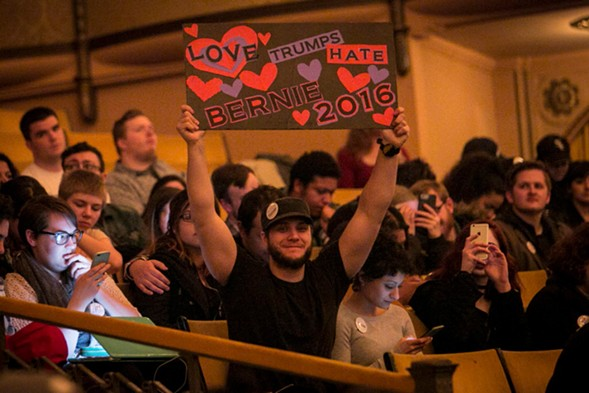 The Bernie Sanders rally in Chicago felt more like a love-in than a politcal rally. - ASHLEE REZIN/CHICAGO SUN TIMES
