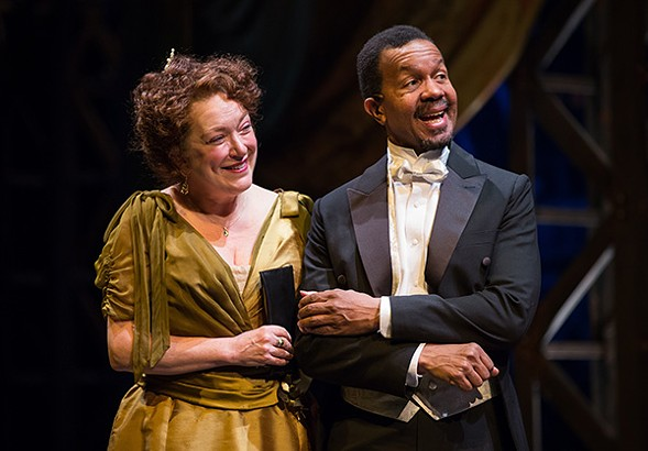 In director Henry Wishcamper's diverse production of The Matchmaker, the title character, Dolly Levi, is played by a white actress, Kristine Nielsen. The man she's trying to net, Horace Vandergelder, is played by Allen Gilmore, who's black. - LIZ LAUREN