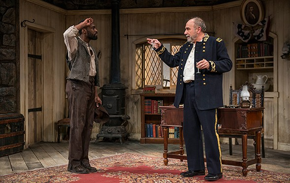 Tosin Morohunfola and Greg Vinkler in Northlight's Butler - MICHAEL BROSILOW