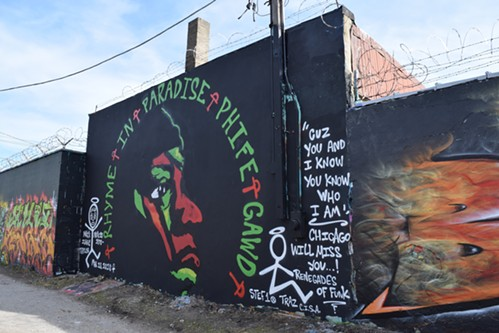 Logan Square's new Phife Dawg tribute mural - LEOR GALIL