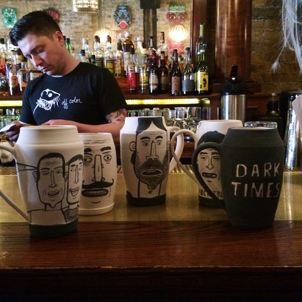 Mugs by Don't Fret at Gold Star - COURTESY DON'T FRET