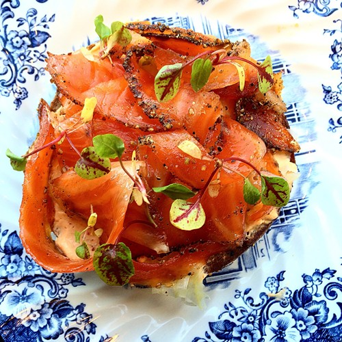 The exceptional pastrami trout tartine at Snaggletooth - MIKE SULA