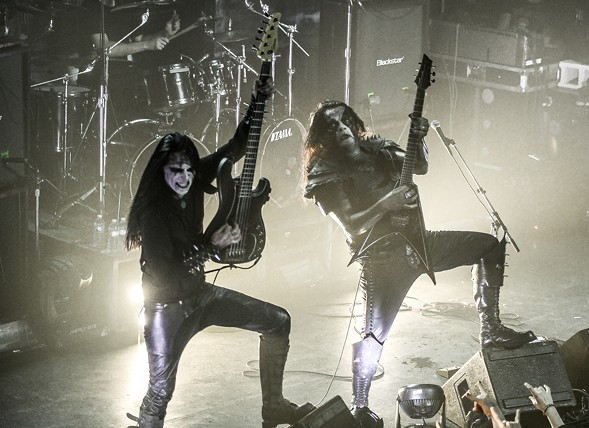 King and Abbath Doom Occulta onstage with Abbath at Metro - BOBBY TALAMINE