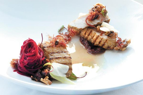 Sturgeon at Blackbird, one of the restaurants taking part in Chicago Chef Week. - ERIC FUTRAN