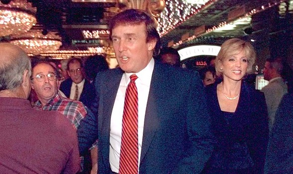 Donald and Marla Trump tour the new Trump Casino in Buffington Harbor in July 1996. - SUN-TIMES