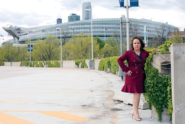 "Juanita Irizarry, a self-described ""Puerto Rican girl from Humboldt Park,"" has been called an elitist by Lucas Museum backers. - SUNSHINE TUCKER"
