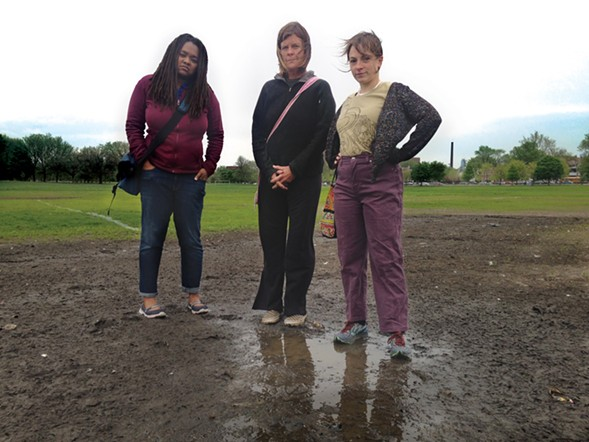 Concerned Citizens of Riot Fest in Douglas Park organizers Sharaya Tindal, Nance Klehm, and Sara Heymann say the park remains in disrepair eight months after the festival. - JOHN GREENFIELD