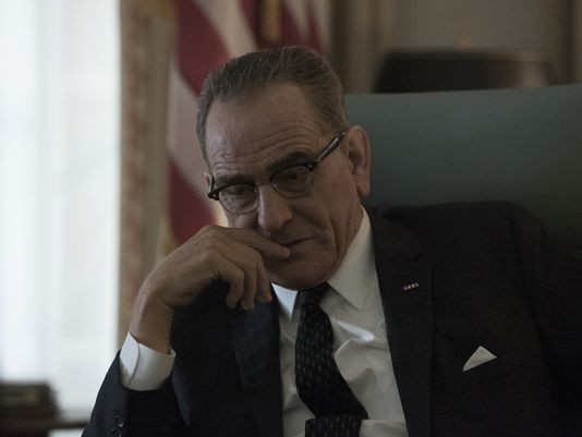 Bryan Cranston as Lyndon Baines Johnson in All the Way.