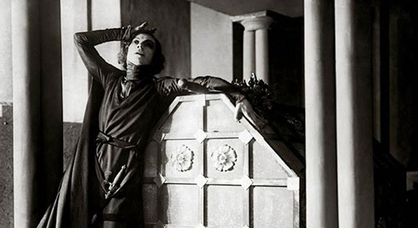 Asta Nielsen stars as Hamlet in the silent Danish adaptation from 1921, screening as part of Silent Shakespeare.