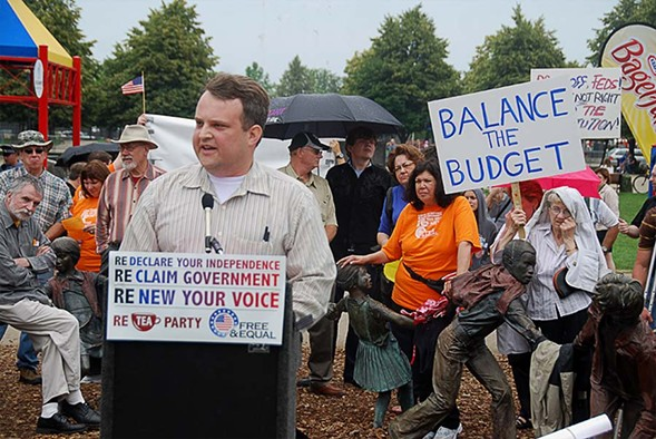 John Bambenek at a Chicago Tea Party Fourth of July rally in 2009. - STEVE RHODES/FLICKR