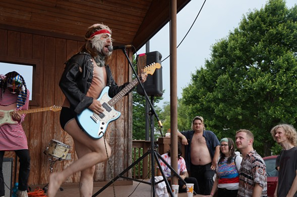 Nobunny headlined a free show at Rock 'n' Roll Hardee's in Springfield on the final day of Dumb Fest 4. - SEAN NEUMANN