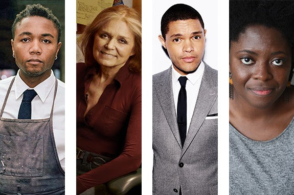 Some of the presenters at this year's speedy Humanities Fest: (l-r) Marshall Brown, Gloria Steinem, Trevor Noah, and Yaa Gyasi. - COURTESY CHICAGO HUMANITIES FESTIVAL