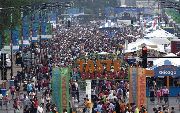The annual Taste of Chicago kicks off Wed 7/6. - CHARLES REX ARBOGAST/AP