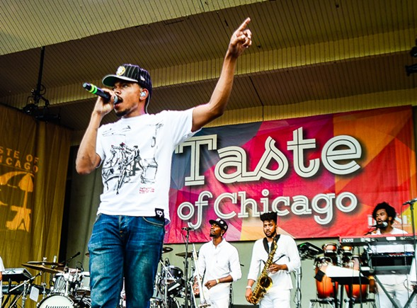 Chance the Rapper at the Taste of Chicago on Wednesday - BOBBY TALAMINE