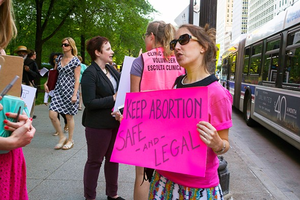 Planned Parenthood rallied in Chicago last week in celebration of the Supreme Court's decision to strike down a restrictive Texas abortion law. - APRIL ALONSO