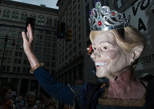 "The ""queen of regime change"" protesting at Philadelphia's City Hall. - JOEFF DAVIS"