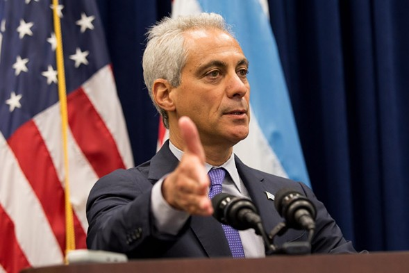 The New York Times published an op-ed about Rahm Emanuel in the wake of the Laquan McDonald scandal. - LOU FOGLIA/SUN-TIMES