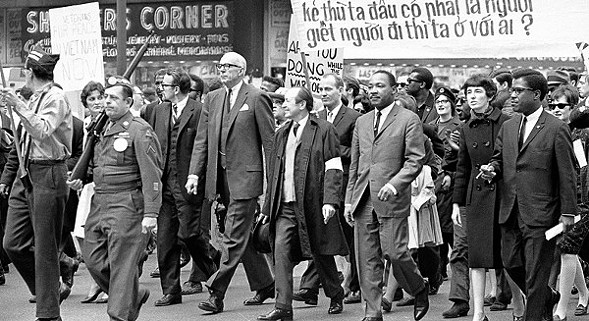 Martin Luther King Jr. marched to Marquette Park 50 years ago. - AP