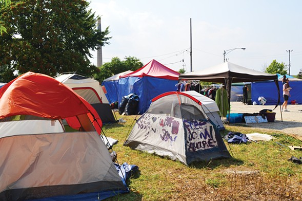 The tent city at Freedom Square - SUNSHINE TUCKER