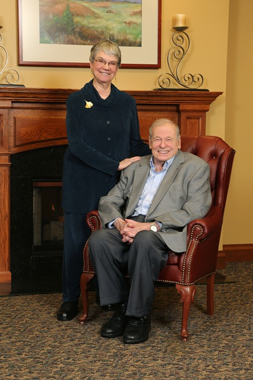 Peter Braunfeld and his wife, Judith Morse Braunfeld - COURTESY OF ILLINI STUDIO