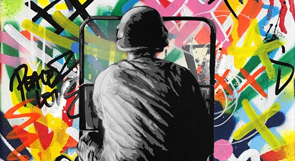 "Martin Whatson's Zero Tolerance is part of ""LAX/ORD"" at Vertical Gallery. - MARTIN WHATSON/VERTICAL GALLERY"