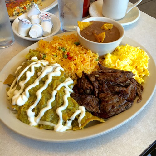 Chilaquiles verde at Brother's Restaurant - MIKE SULA