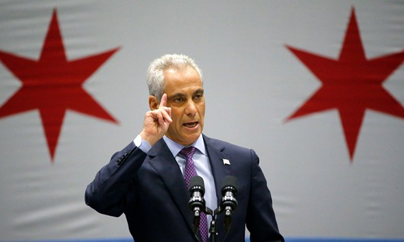 Chicago Mayor Rahm Emanuel delivered his new public safety plan to combat gun violence Thursday. - AP PHOTO/CHARLES REX ARBOGAST