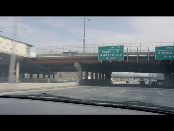 Slippin' on by along the Eisenhower Expressway
