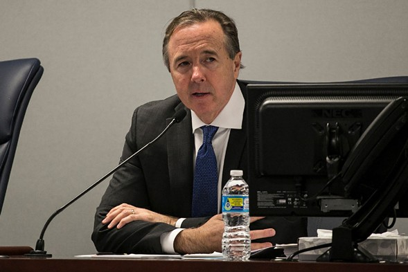 Chicago Public Schools CEO Forrest Claypool at a recent Board of Education meeting - ASHLEE REZIN/FOR THE SUN-TIMES