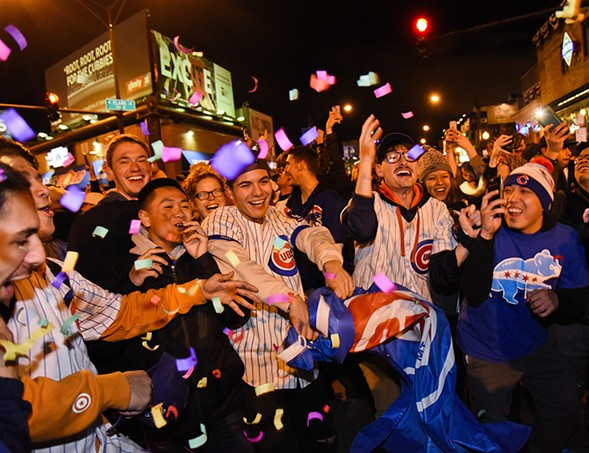 The people of Wrigleyville almost felt like one big happy family during the World Series. - MATT MARTON