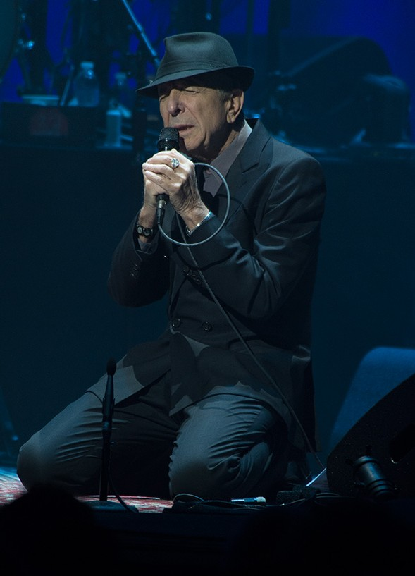 Leonard Cohen at Rosemont Theatre in November 2012 - BOBBY TALAMINE