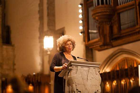 Angela Davis at the University of Chicago's Rockefeller Chapel - DANIELLE A. SCRUGGS