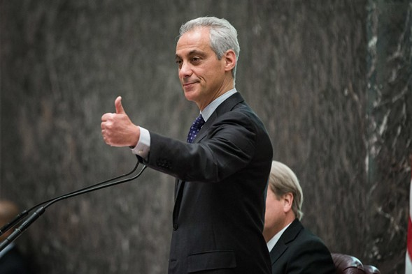 Mayor Rahm Emanuel speaks Wednesday during a City Council meeting. - SANTIAGO COVARRUBIAS/SUN-TIMES