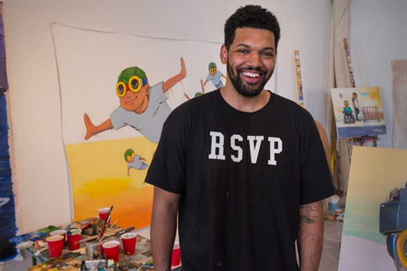 Hebru Brantley talks about making his art stand out at the panel discussion How to Make It in Chicago. - SUN-TIMES MEDIA
