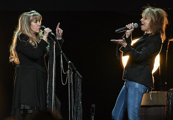 """Chrissie Hynde of the Pretenders (the night's opening act) took Tom Petty's vocal in """"Stop Draggin' My Heart Around."""" - BOBBY TALAMINE"""