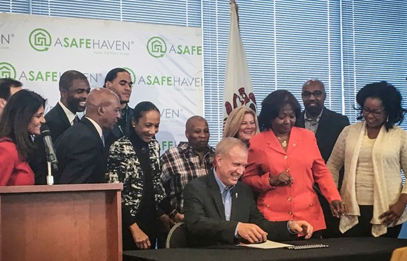 Governor Bruce Rauner signed legislation last week to ensure that people released from prison receive a state ID card before departing. - TINA SFONDELES/CHICAGO SUN-TIMES VIA AP