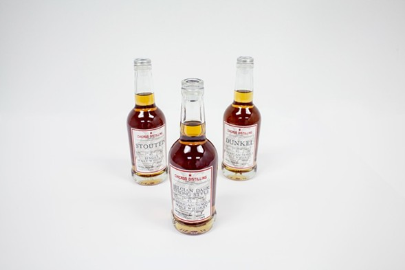 Three entries in Chicago Distilling Company's line of single-malt whiskeys - DANIELLE A. SCRUGGS