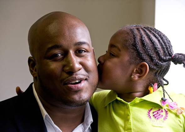 Sheldon Smith with his daughter, Jada - RICHARD A. CHAPMAN/SUN-TIMES MEDIA