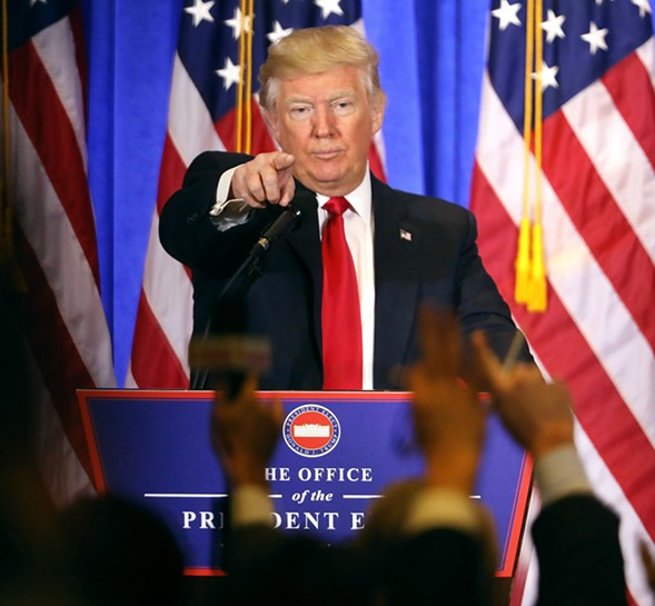 President-elect Donald Trump held his first press conference since July in New York Wednesday. - SPENCER PLATT/GETTY IMAGES