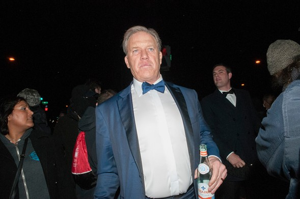 This looks like former NFL quarterback John Elway because it is former NFL quarterback John Elway at the entrance to the Inaugural Ball.
