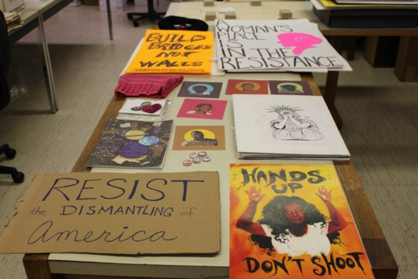 A selection of materials from the Women's March that have been collected by the Newberry Library - COURTESY NEWBERRY LIBRARY
