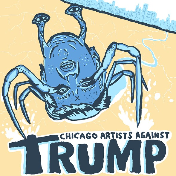 The artwork for Static Switch Records' Chicago Artists Against Trump compilation - DYLAN SOWLE