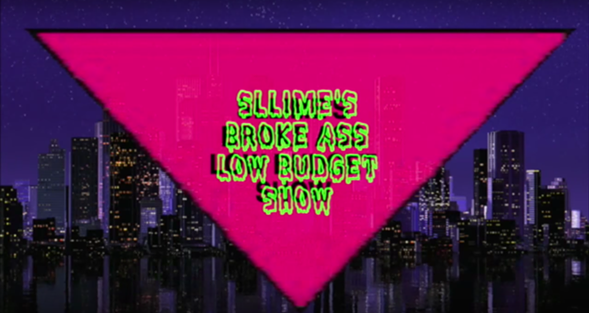 A screenshot of the title card for Green Sllime's YouTube talk show