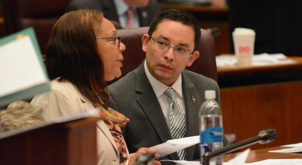 Aldermen Raymond Lopez, right, at City Council meeting in May. - BRIAN JACKSON/SUN-TIMES MEDIA