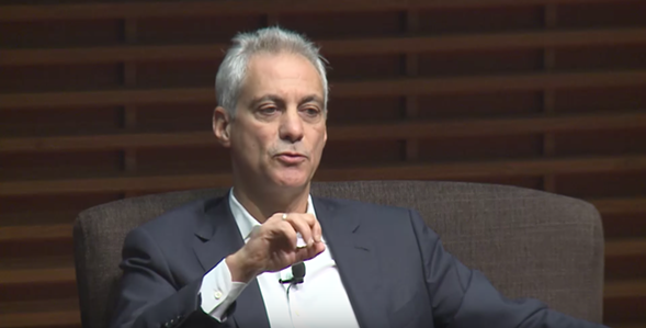Mayor Rahm Emanuel spoke to Standford graduate students Monday. - COURTESY STANFORD GRADUATE SCHOOL OF BUSINESS
