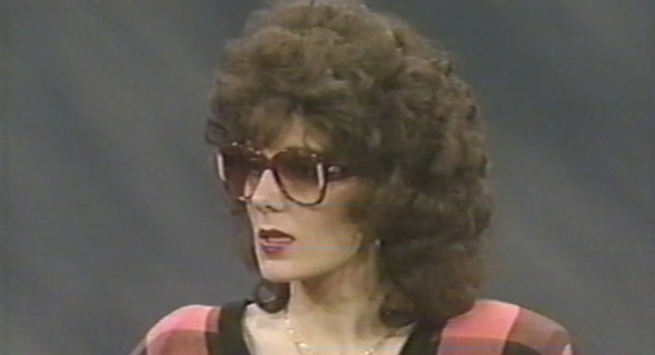 "Lisa Fierstein, ex-wife of former labor secretary nominee Andrew Puzder, appeared in disguise on a March 1990 episode of the Oprah Winfrey Show entitled ""High Class Battered Women."" - THE OPRAH WINFREY SHOW/POLITICO"