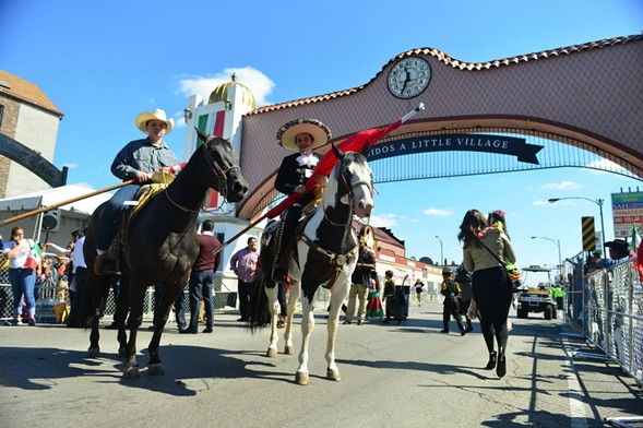A Mexican Independence Day parade on 26th Street in Little Village in 2014 - RICHARD A. CHAPMAN/SUN-TIMES