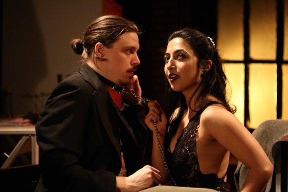 Zach Livingston and Arti Ishak in Circle Theatre's Venus in Fur - CODY JOLLY